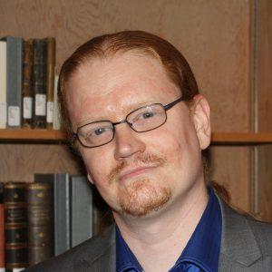 Un retrato en la cabeza del líder miembro de SEIU, John Tay Loruo