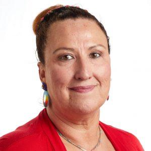 Улыбающийся портрет выстрела в голову главы группы SEIU Кимберли Коул