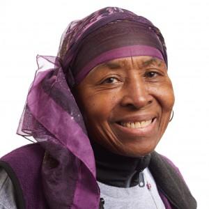 Un retrato sonriente en la cabeza de la líder miembro de SEIU Mary Hubert Godwin