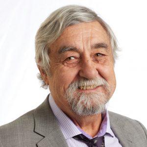 Un retrato sonriente en la cabeza del líder miembro de SEIU, Greg Ledbetter