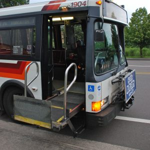 bus with wheelchair lift